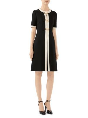 Stretch Jersey Short-Sleeve Dress