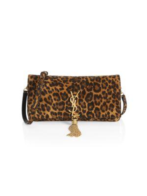 Kate Tassel Leopard-Print Leather Baguette