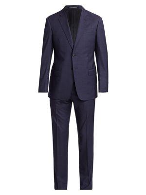 Slim-Fit Check Plaid Virgin Wool Suit