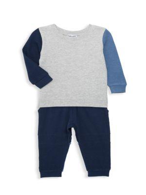 Baby Boy's 2-Piece Half & Half Sweatshirt & Joggers Set