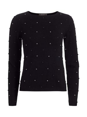Dolmen Embellished Wool & Cashmere Sweater