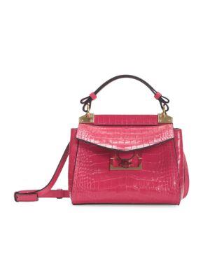 Mini Mystic Croc-Embossed Leather Top Handle Bag