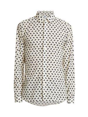Ikat Long-Sleeve Slim Dress Shirt
