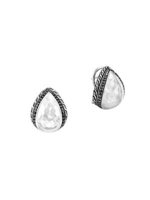 Classic Chain Sterling Silver & Mixed-Stone Buddha Belly Stud Earrings