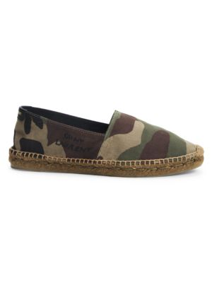 Logo-Embroidered Camo Espadrilles
