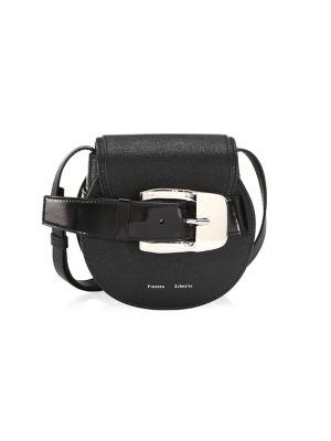 Mini Buckle Leather Saddle Bag
