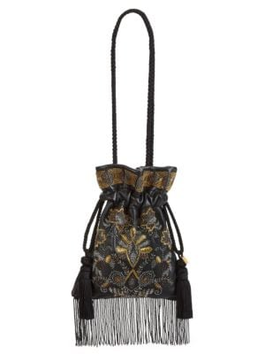 Chatelaine Embroidered Pouchette Bag