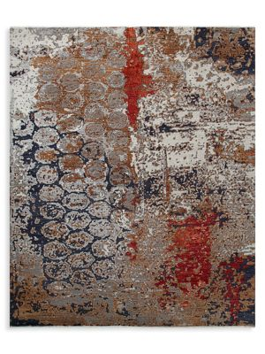 Transitional Print Wool-Blend Hand Knotted Area Rug
