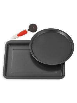Cookin' Italy 3-Piece Pizza Pan Set
