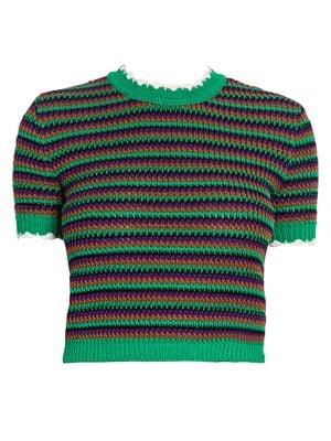 Crochet Cropped Tee