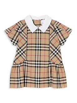버버리 여아용 아이콘 원피스 Burberry Babys & Little Girls Robyn Icon Dress,Archive Beige