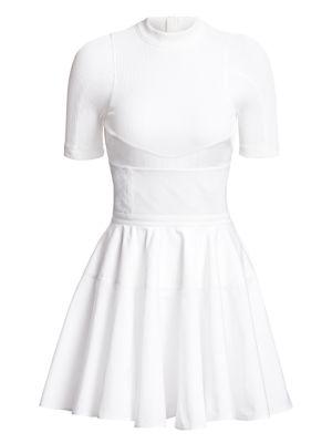 Ribbed Corset Cotton Dress