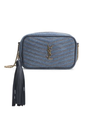 Mini Lou Matelassé Denim Camera Bag