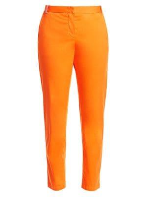 Embellished Belt Loop Straight Leg Trousers