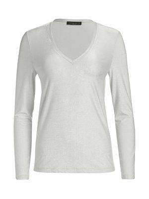 Lurex Jersey Knit Long-Sleeve Shirt