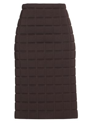 Quilted Technical Pencil Skirt
