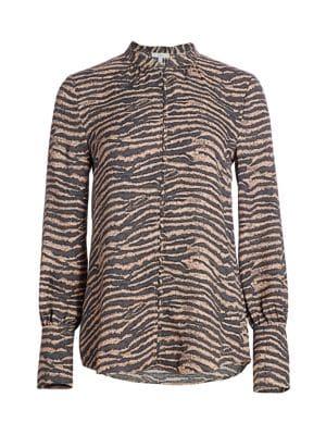 Tariana Zebra Print Blouse