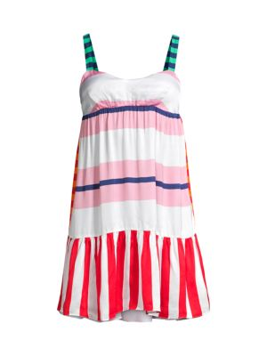 Multi-Striped Beach Dress