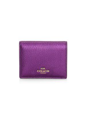 Metallic Leather Bi-Fold Wallet