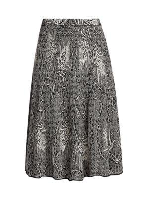 Fern Print Midi Skirt