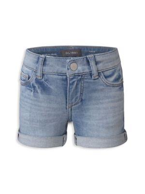 Little Girl's & Girl's Piper Cuffed Denim Shorts