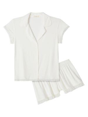 Iona Short Ruffle Two-Piece Pajama Set