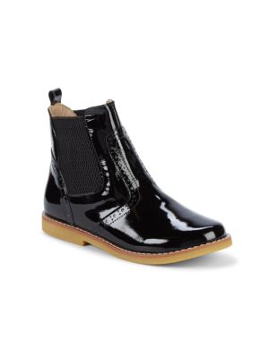 Girl's Patent Leather Booties