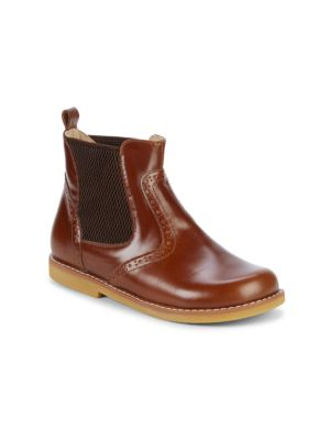 Kid's Leather Booties