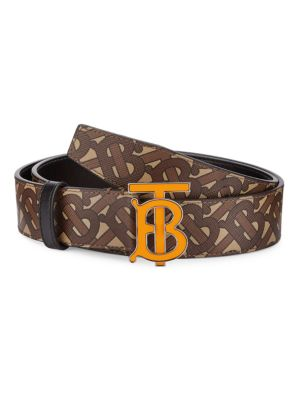 Monogram Hand-Painted E-Canvas Leather Belt