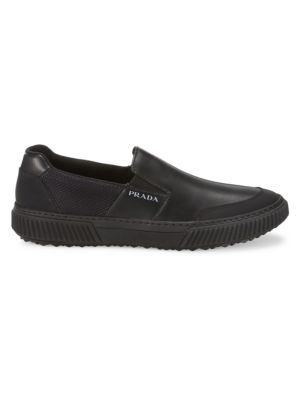 Stratus Leather Slip-On Sneakers