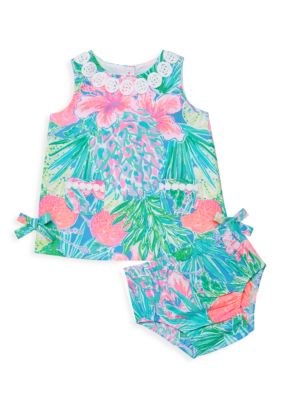 Baby Girl's 2-Piece Mila Floral Cotton Dress & Bloomers Set