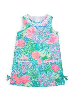 Little Girl's & Girl's Floral Print Shift Dress