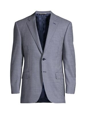 Gingham Wool Sport Coat