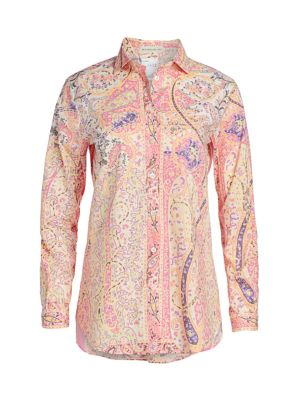 Paisley Swirl Cotton Button Down Shirt