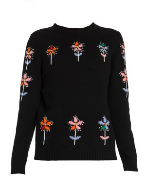 Floral Cashmere & Virgin Wool Sweater