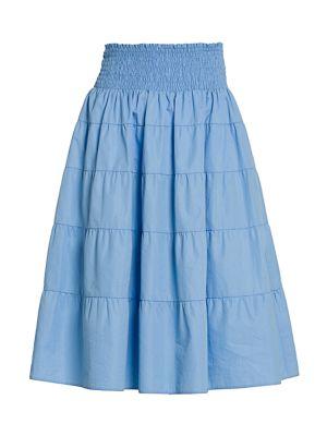 Smocked Waist Tiered Skirt