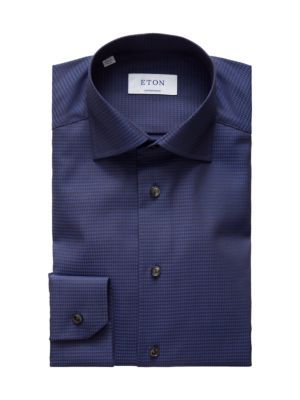 Contemporary-Fit Houndstooth Dress Shirt