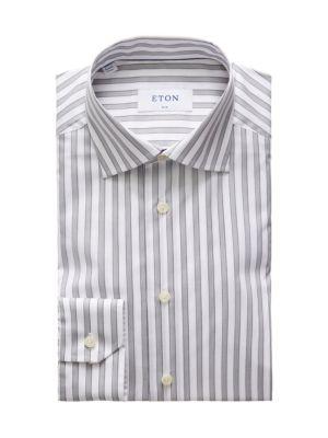 Slim-Fit Striped Dress Shirt