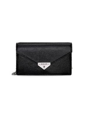 Medium Grace Leather Envelope Clutch