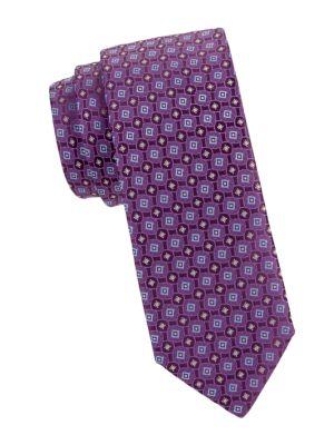 Medallion Jacquard Silk Tie