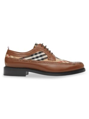 Arndale Leather & Vintage Check Brogues