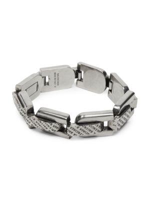 Precious Lo-Link Silvertone Bracelet