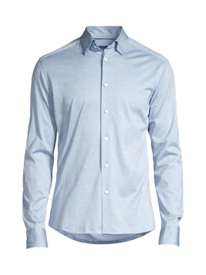 Soft Casual Slim-Fit Jersey Knit Sport Shirt
