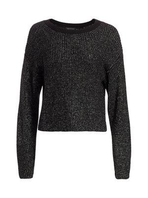 Jubilee Metallic Merino Wool-Blend Sweater