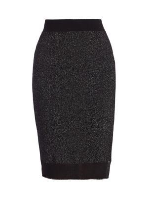 Rower Metallic Merino Wool-Blend Skirt