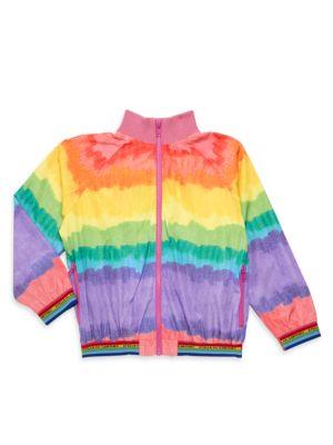 Little Girl's & Girl's Rainbow Bomber