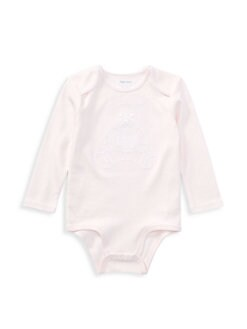 폴로 랄프로렌 여자 아기용 곰 바디수트 Polo Ralph Lauren Baby Girls Bear Embroidery Bodysuit,Pink