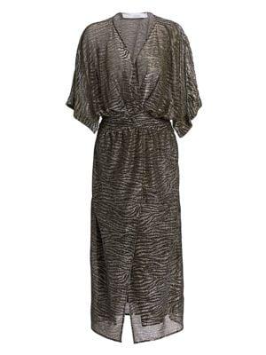 Volsun Metallic Midi Dress