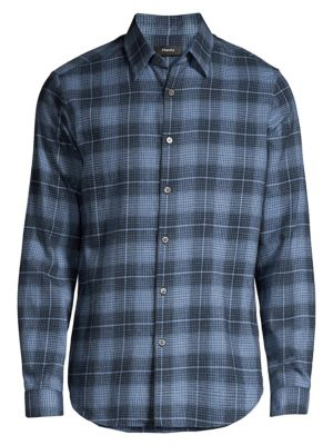 Irving Flannel Button-Down Shirt