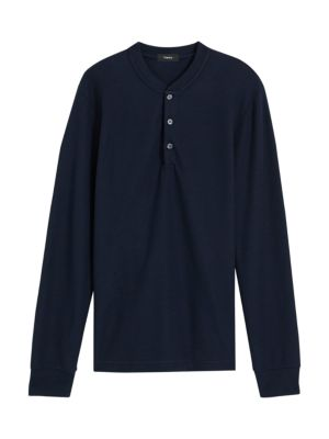 Classic Henley Organic Cotton Long-Sleeve